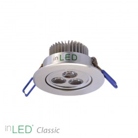 inLED Classic 3W silver LED spotlight