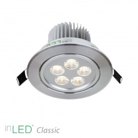 inLED Classic 5W silver LED spotlight