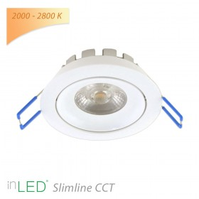 LED spotlight inLED Slimline CCT 8W vit 2000 - 2800K
