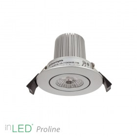inLED Proline 10W COB silver LED spotlight