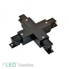 inLED X-skarv till 3-fasskena, svart