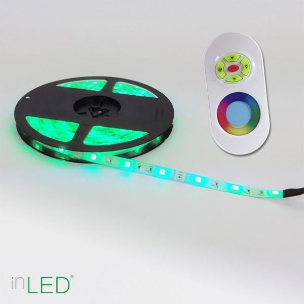 Fräscha LED stripe RGB IP65 / LED list 5m med RGB färger / transformator BD-27